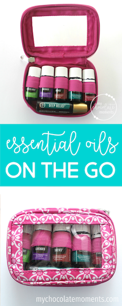 essential oils on the go | Young Living essential oils | diaper bag