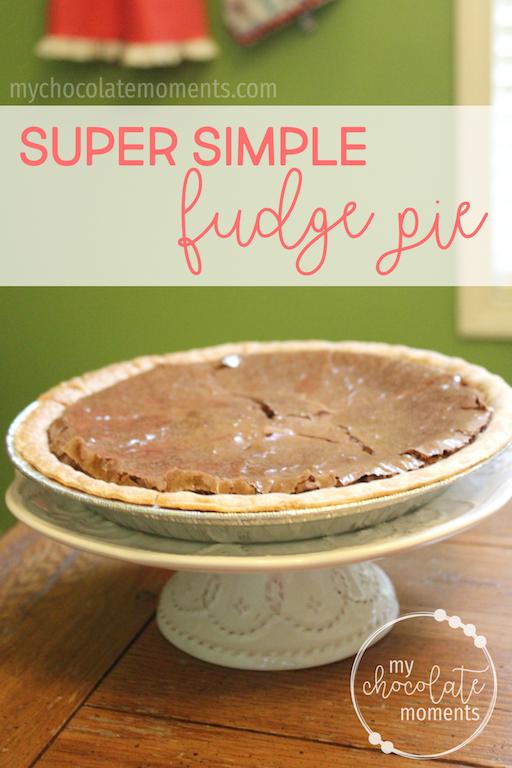 super simple fudge pie recipe | dessert | pie | quick dessert