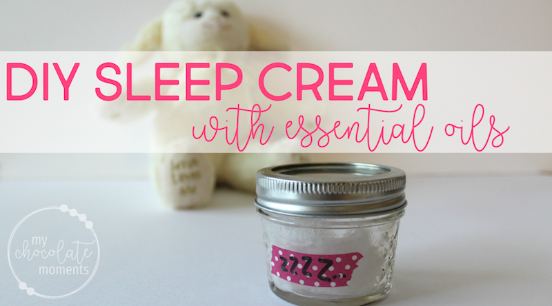 DIY sleep cream with essential oils
