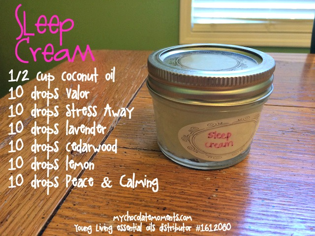 Young Living sleep cream recipe
