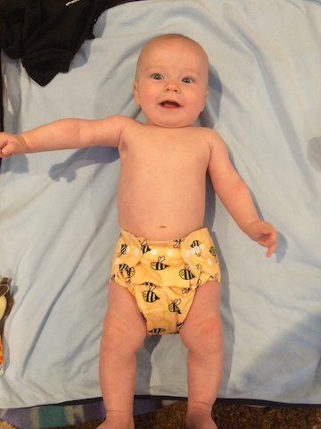 Just Simply Baby bee diaper