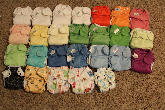 cloth diaper stash shot
