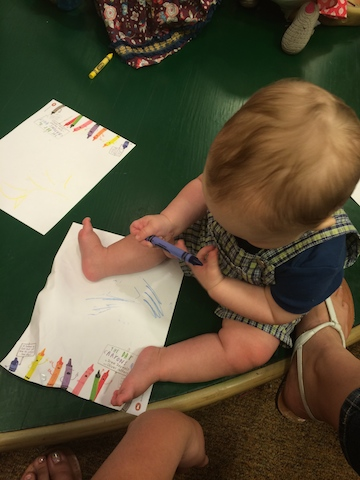 coloring at storytime