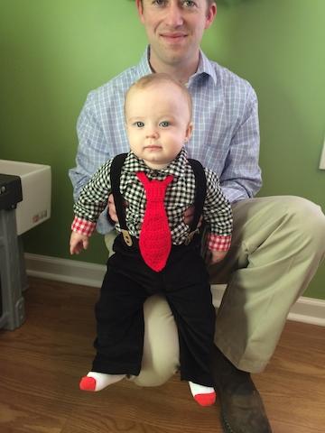 baby tie and suspenders