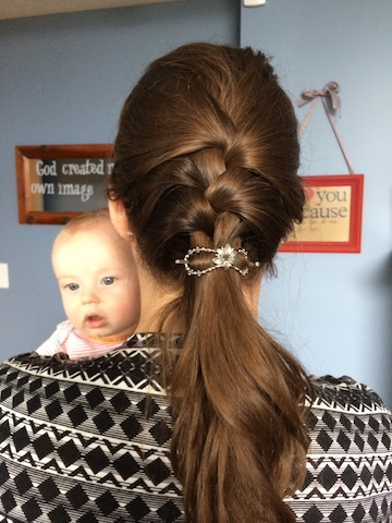 lilla rose Hawaiian flower braid