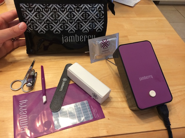 Jamberry application kit and heater