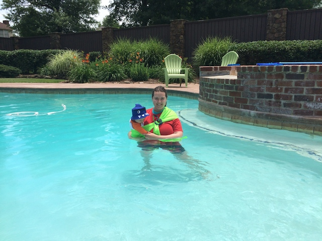 swimming with mesh water sling