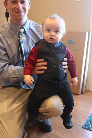 baby in a suit