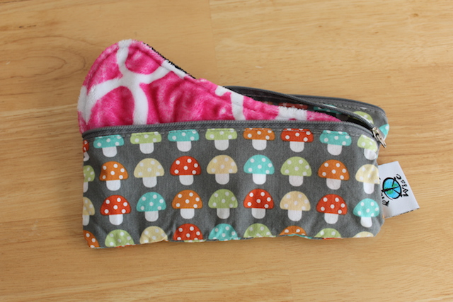 9 inch day pad from pink lemonade shop fits perfectly in a planetwise wet dry bag