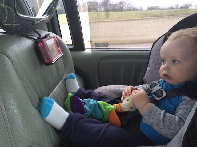 iphone to watch Daniel Tiger in the car