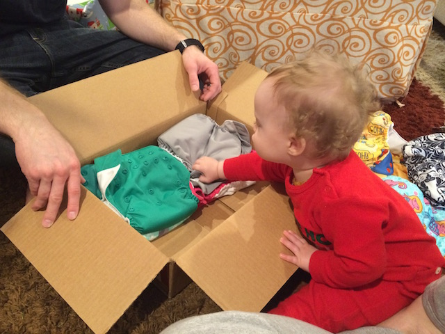 cloth diapers for baby's first Christmas