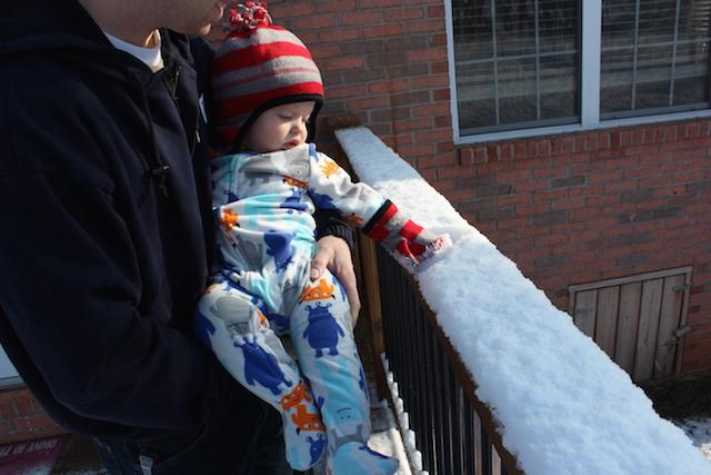 Hudson touches snow