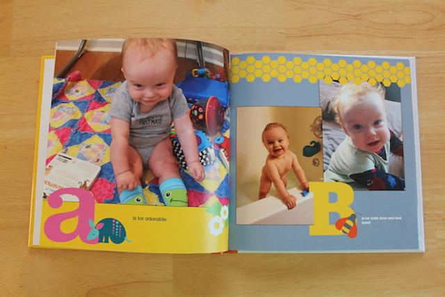 personalized Shutterfly ABC book A and B