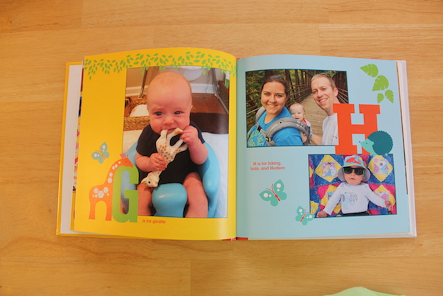 personalized Shutterfly ABC book G and H