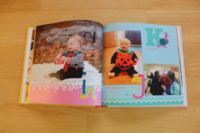 personalized Shutterfly ABC book I, J, and K