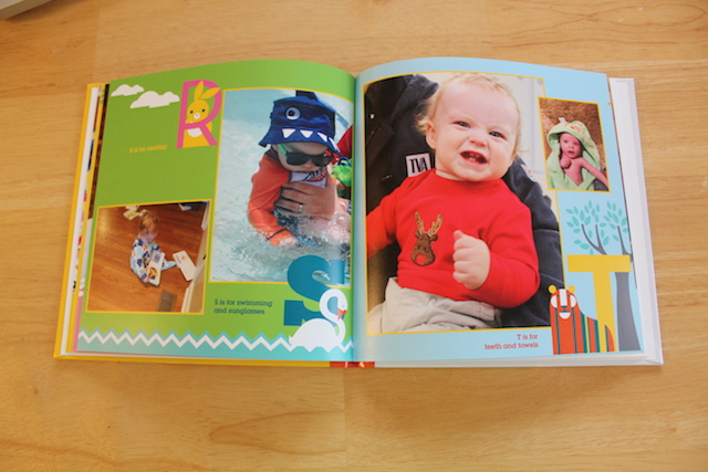 personalized Shutterfly ABC book R, S, and T