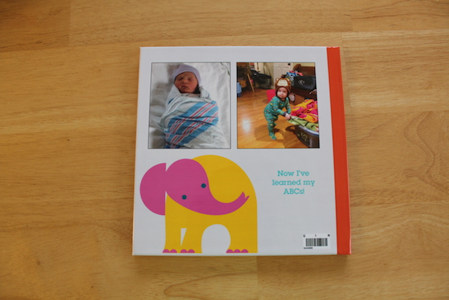 personalized Shutterfly ABC book back