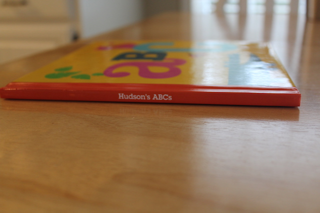 personalized Shutterfly ABC book spine