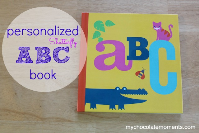 personalized Shutterfly ABC book
