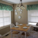 mini kitchen makeover – new dishes and curtains