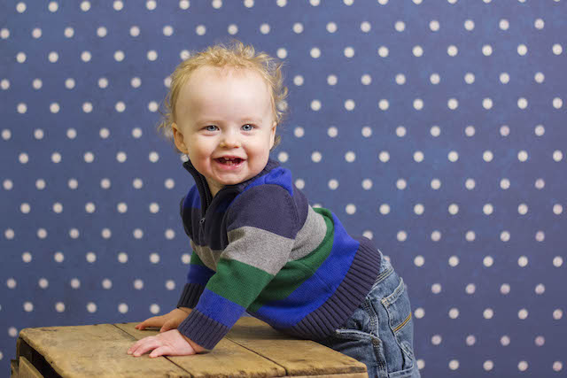 12 month pictures polka dot background