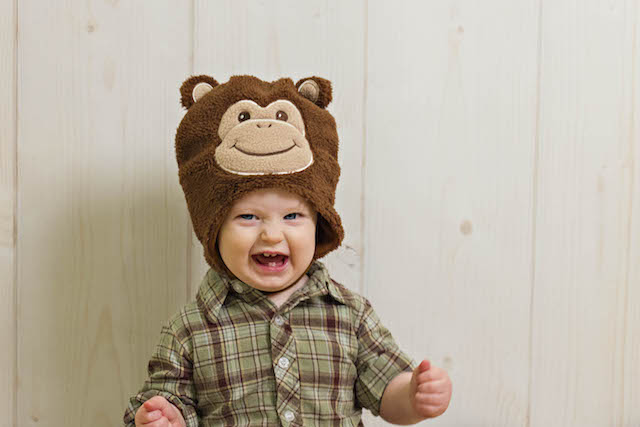 12 month pictures monkey hat