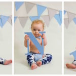 Hudson's 12 month and smash cake pictures