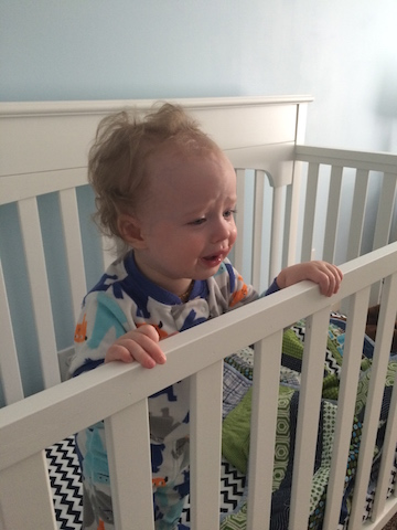 crying in his crib