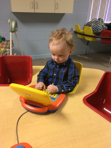toddler laptop at church