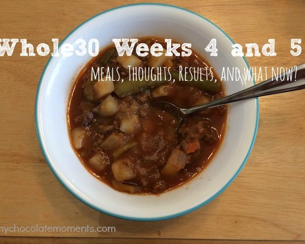 whole30 weeks 4 and 5 – wrap up, results, and what next?