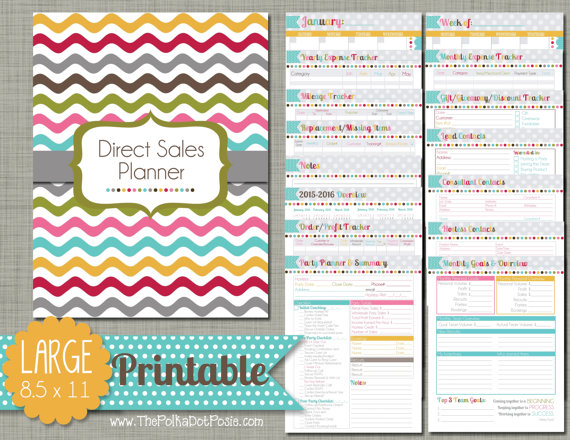 thepolkadotposie direct sales planner
