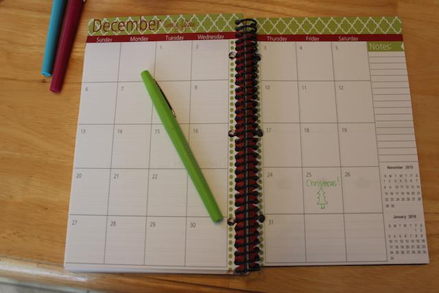 thepolkadotposie printable planner calendar page