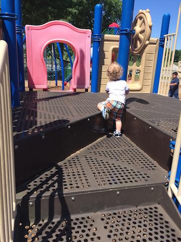 climbing at the park