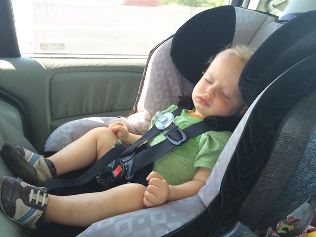 sleeping in the car