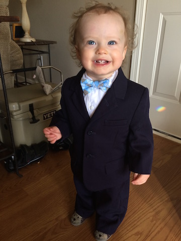 toddler suit and bowtie