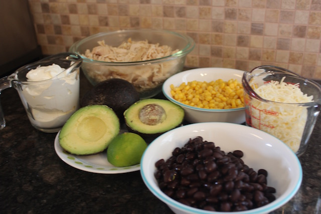 southwest chicken salad ingredients