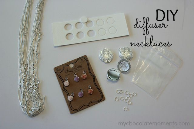 DIY diffuser necklace supplies