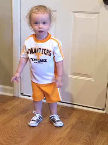 UT Vols toddler outfit