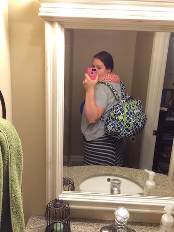 JuJuBe BFF in Royal Envy worn as a backpack
