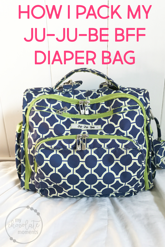 how I pack my Ju-Ju-Be BFF diaper bag