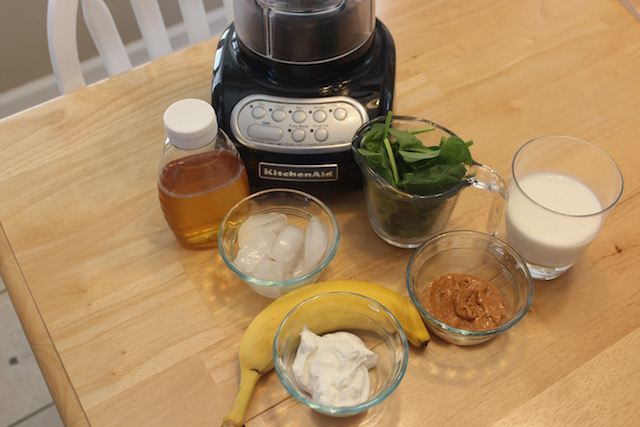 peanut butter banana smoothie ingredients
