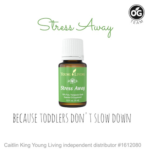 stress away - because toddlers don't slow down