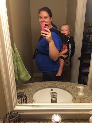 back carry in a mei tei while pregnant