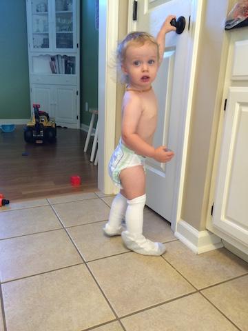 socks and diaper