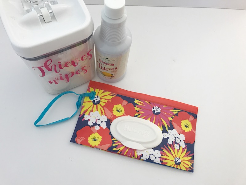 DIY Thieves wipes on the go