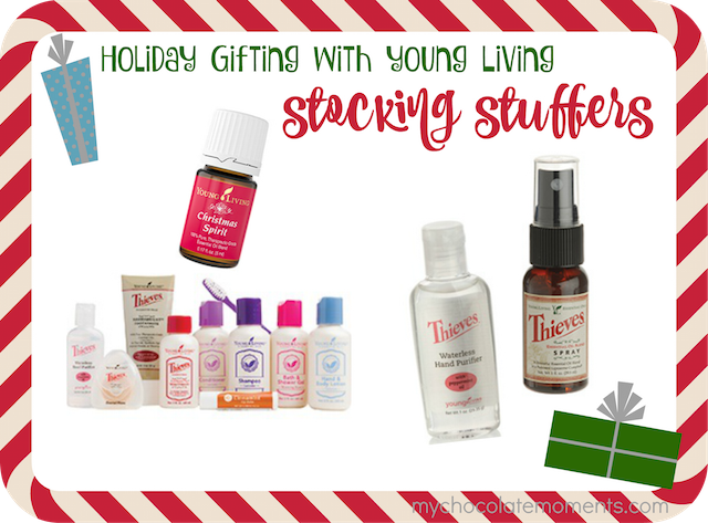 Young Living essential oil stocking stuffer ideas