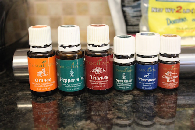 Young Living essential oils to flavor mints