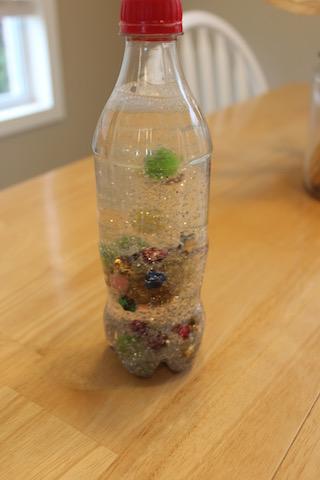 glittery sensory bottle