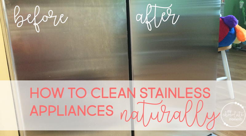 how to clean stainless appliances naturally