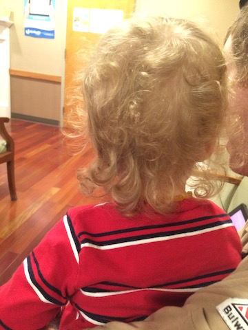 before haircut curly mullet